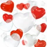 Hart gevormde ballons Stock Afbeeldingen