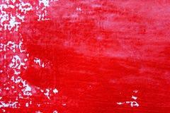 Rode en Witte Watercolour-Achtergrond 6 Stock Afbeelding
