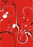 Rode en witte wervelingen stock illustratie