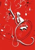 Rode en witte wervelingen vector illustratie