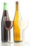 Rode en witte wijnen Royalty-vrije Stock Afbeelding