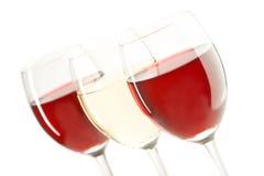 Rode en witte wijnen Royalty-vrije Stock Foto's