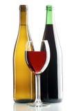 Rode en witte wijnen Stock Foto's
