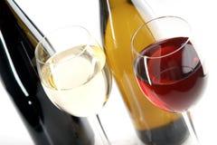 Rode en witte wijnen Stock Fotografie