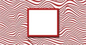 Rode en witte willekeurige golvende achtergrond stock illustratie