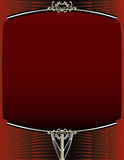 Rode en zilveren achtergrond met frame Royalty-vrije Stock Afbeeldingen