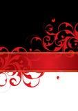 Rode en zwarte achtergrond Stock Afbeeldingen