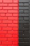Rode en Zwarte Bakstenen Stock Afbeelding