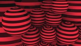 Rode en zwarte ballen het 3d teruggeven Stock Afbeelding