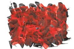 Rode en Zwarte Geweven Achtergrond Stock Fotografie