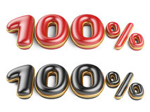 Rode en zwarte honderd percenten Royalty-vrije Stock Afbeelding