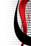 Rode en zwarte lijnen Royalty-vrije Stock Afbeeldingen