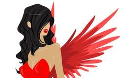 Rode engel Stock Afbeeldingen