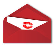Rode envelop royalty-vrije illustratie