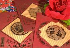 Rode envelop Royalty-vrije Stock Fotografie