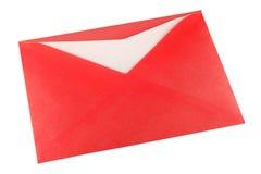 Rode envelop Stock Afbeelding