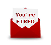 Rode Envelop met brief fired royalty-vrije illustratie