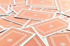 Rode Facedown-Kaarten Stock Afbeelding