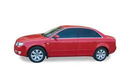 Rode familieauto Stock Afbeeldingen