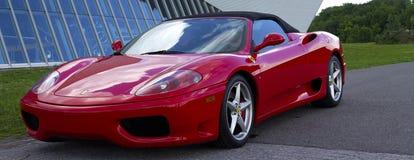 Rode Ferrari stock foto