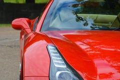 Rode Ferrari royalty-vrije stock afbeeldingen