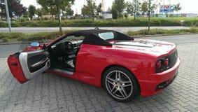 Rode Ferrari Stock Foto's