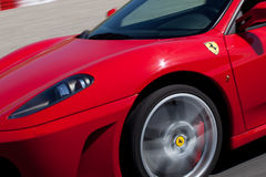Rode Ferrari F430 F1 royalty-vrije stock foto