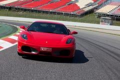Rode Ferrari F430 F1 Stock Afbeeldingen