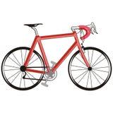 Rode fiets royalty-vrije illustratie