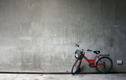 Rode fiets Stock Afbeelding