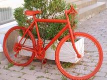 Rode fiets royalty-vrije stock afbeelding