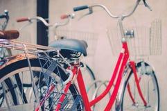 Rode fiets royalty-vrije stock foto