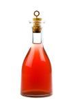 Rode fles royalty-vrije stock afbeelding