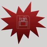 Rode floppy van de Webknoop Royalty-vrije Stock Afbeeldingen