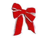Rode fluweelboog Royalty-vrije Stock Afbeeldingen