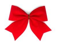 Rode fluweelboog. Royalty-vrije Stock Foto's