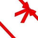 Rode fluweelboog Stock Afbeelding