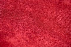 Rode fluweeltextuur Stock Afbeelding