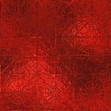Rode Folie Naadloze Textuur Als achtergrond Stock Afbeeldingen