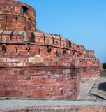 Rode fort-Agra India royalty-vrije stock foto's