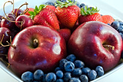 Rode fruitclose-up Stock Afbeelding