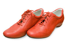 Rode geïsoleerde© schoenen Stock Fotografie