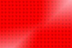 Rode geïsoleerde hartillustraties royalty-vrije illustratie