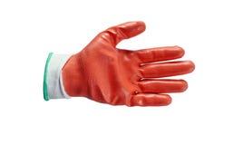 Rode geïsoleerde het werkhandschoenen Royalty-vrije Stock Afbeeldingen
