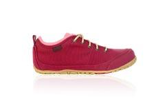 Rode geïsoleerde schoen - Stock Afbeelding