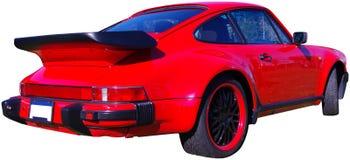 Rode Geïsoleerde Sportwagen Stock Afbeelding
