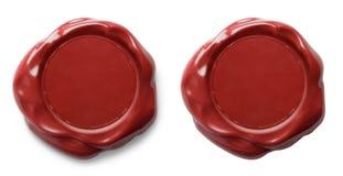 Rode geïsoleerde wasverbinding royalty-vrije stock afbeelding