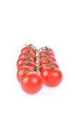 Rode geïsoleerdea tomaten royalty-vrije stock foto