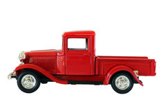 Rode geïsoleerdei vrachtwagen stock fotografie