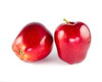 Rode geïsoleerdek appel Royalty-vrije Stock Afbeelding